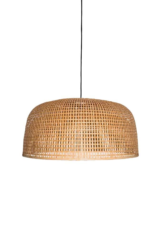 Ay Illuminate Lámpara de suspensión de bambú Doppio Grid - Natural - Ø80x41cm - Ay illuminate