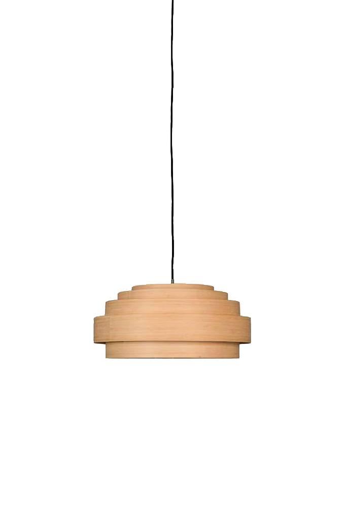 Ay Illuminate Bamboo Pendant Lamp Thin Wood Small - Natural - Ø40x24cm - Ay illuminate