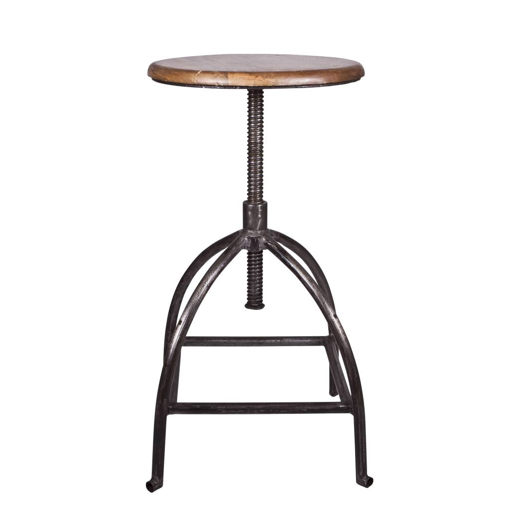 Broste Copenhagen Industrial stool - Metal and wood - Broste Copenhagen