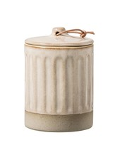 Bloomingville Stoneware Jar with Lid - Ø8,5xH12cm - Natural - Bloomingville