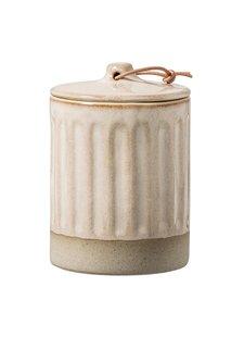 Bloomingville Pot en grès avec couvercle - Ø8,5xH12cm - naturel - Bloomingville