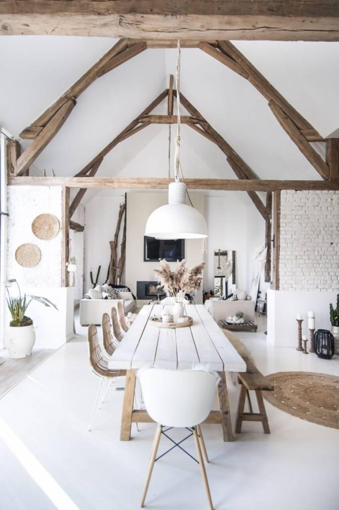Wabisabi open space dining room by rachelstyliste