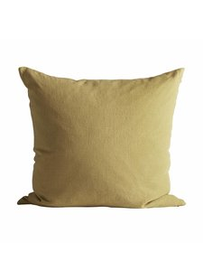 TineKHome Housse de coussin 100% lin - curry - 60x60cm - TinekHome