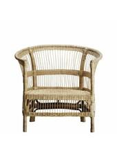 TineKHome Lounge chair in rattan - naturel - 75xH36/88cm - TinekHome