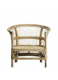 TineKHome Rattan Lounge Chair - Natural - 75xH36/88 cm - TinekHome