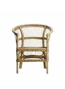 TineKHome Chair in rattan - naturel - 70x60xH44/82cm - TinekHome