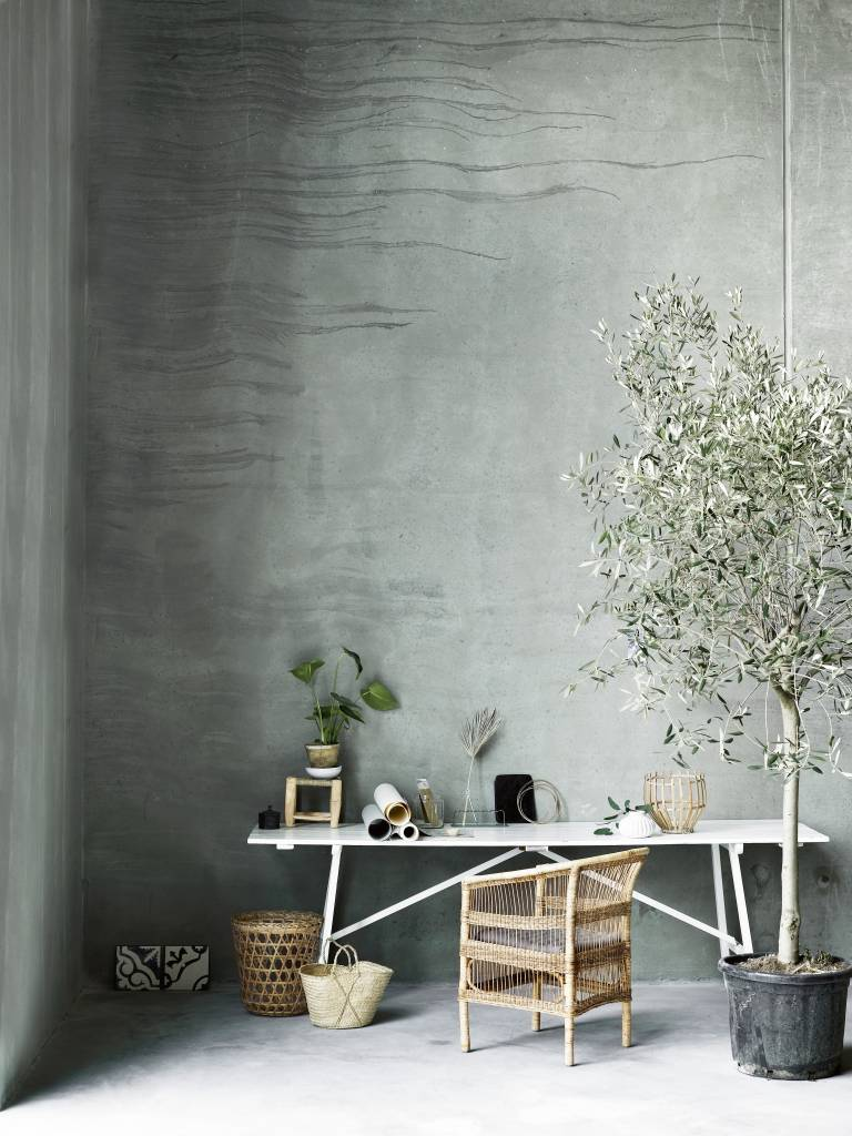 TineKHome Chair in rattan - naturel - 70x60xH44/82cm - TinekHome