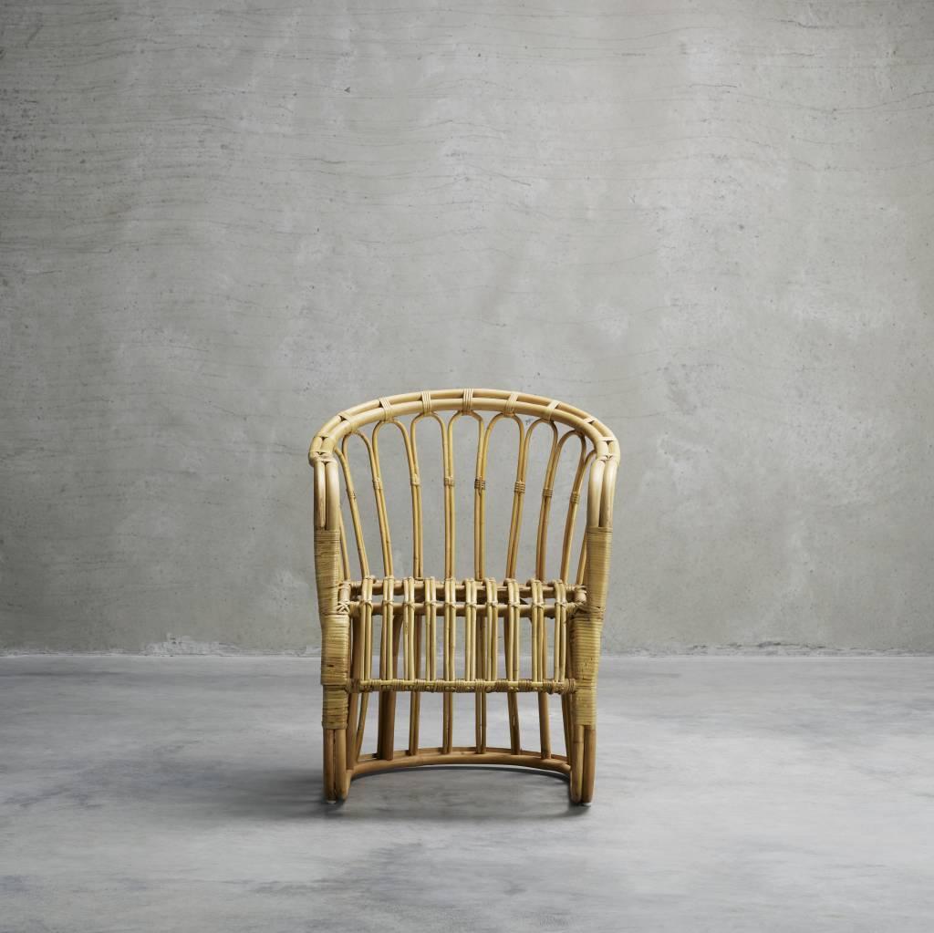 TineKHome Chaise Rotin - Naturel - 60x70xH42/85cm - TinekHome