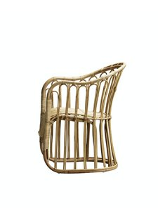 TineKHome Chair in rattan - naturel - 60x70xH42/85cm - TinekHome