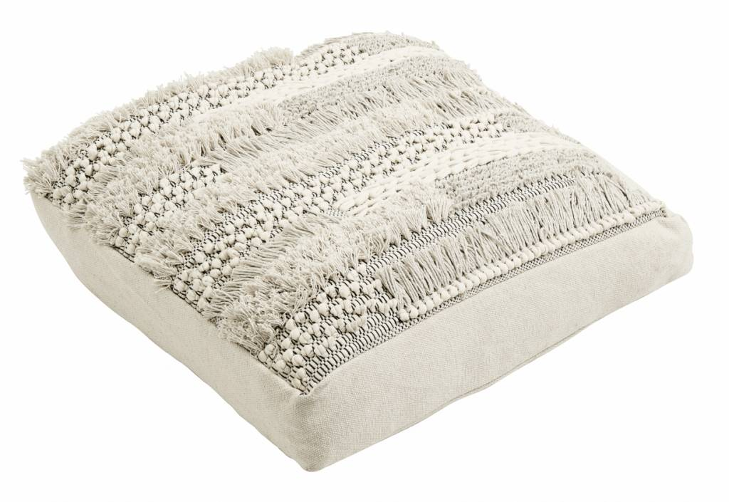 Nordal Floor cushion 80x80cm - macramé - off white - Nordal