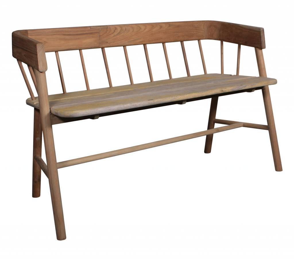Banc Canapé Dextérieur Sofa En Teck Naturel Marron Hk Living