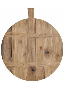 HK Living Tabla de Picar en Madera de Teca- Natural - Ø50cm - HK Living
