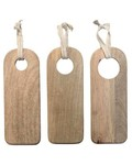 HK Living Set of 3 cutting boards natural wood - HK Living