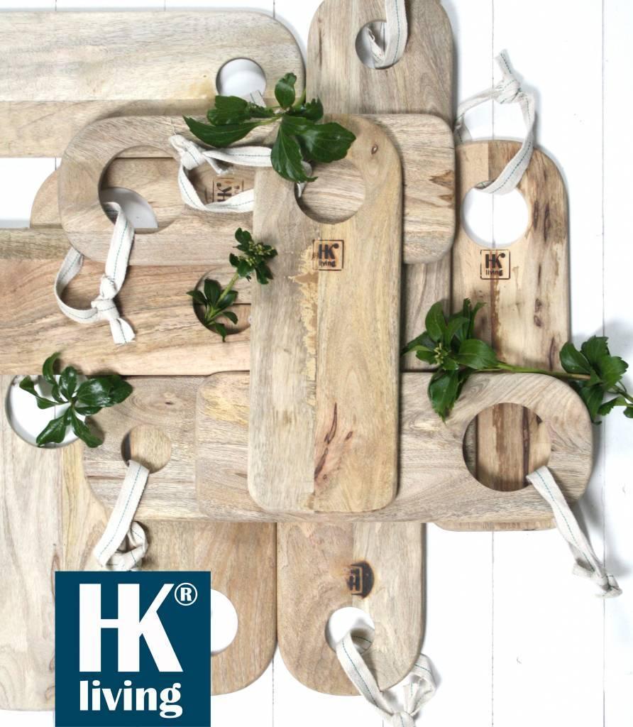 HK Living Set of 3 cutting boards natural wood - HK Living