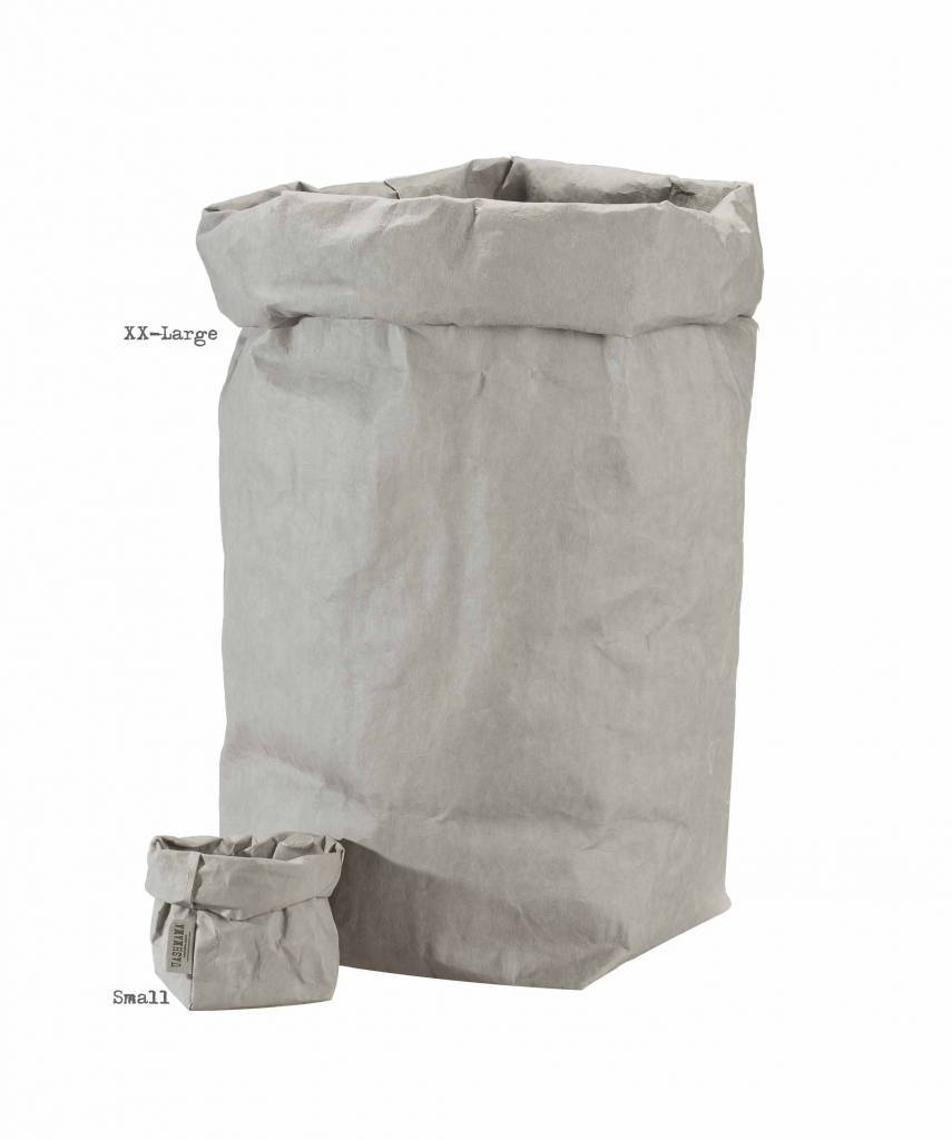 Uashmama Washable Paper Bag in Light Grey - Uashmama