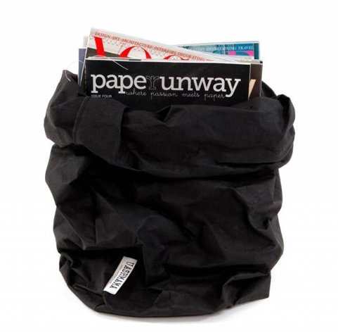 Uashmama Washable Paper Bag - Black - Uashmama