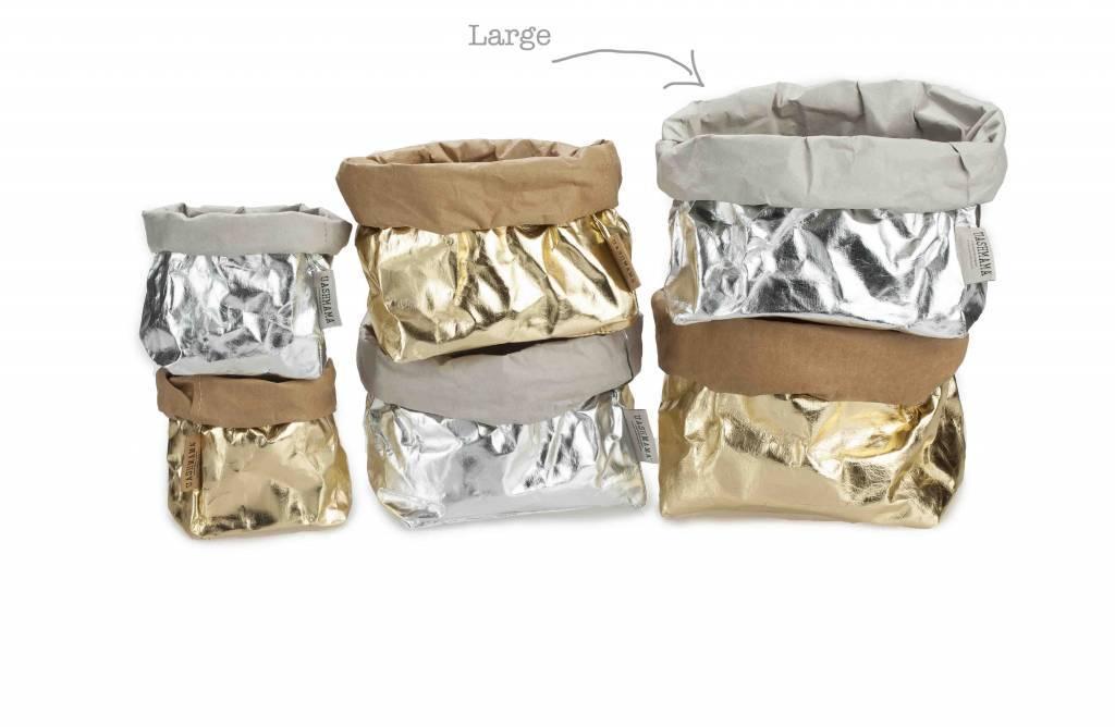 Uashmama Sac en Papier Lavable Argenté - Uashmama