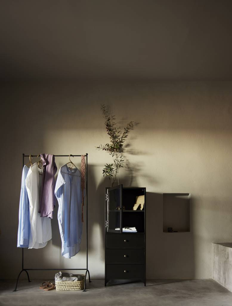 portant industriel textile. Black Bedroom Furniture Sets. Home Design Ideas