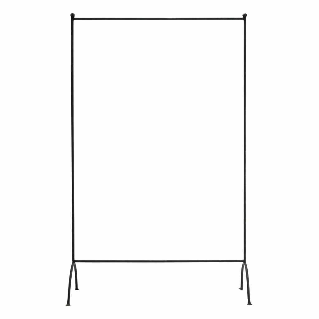TineKHome Industrial clothing rack - black metal - 100xh160cm - TinekHome