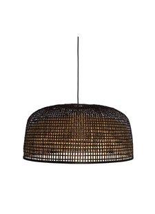 Ay Illuminate Lámpara de suspensión de bambú Doppio Grid - oscuro - Ø80x41cm - Ay illuminate