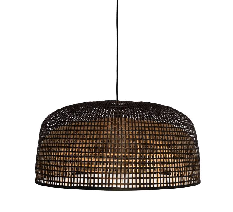 Ay Illuminate Bamboo Pendant Lamp Doppio Grey - Dark - Ø80x41cm - Ay Illuminate