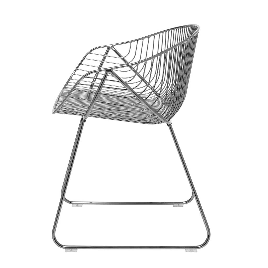 Bloomingville Chaise River lounge / WIRE  - métal gris - Bloomingville