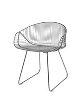 Bloomingville Silla River lounge / WIRE - metal gris - Bloominville