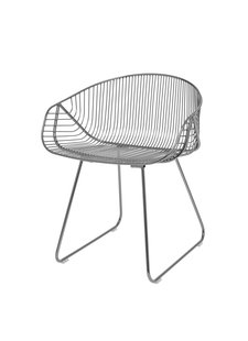 Bloomingville Sillon River lounge / WIRE - metal gris - Bloominville