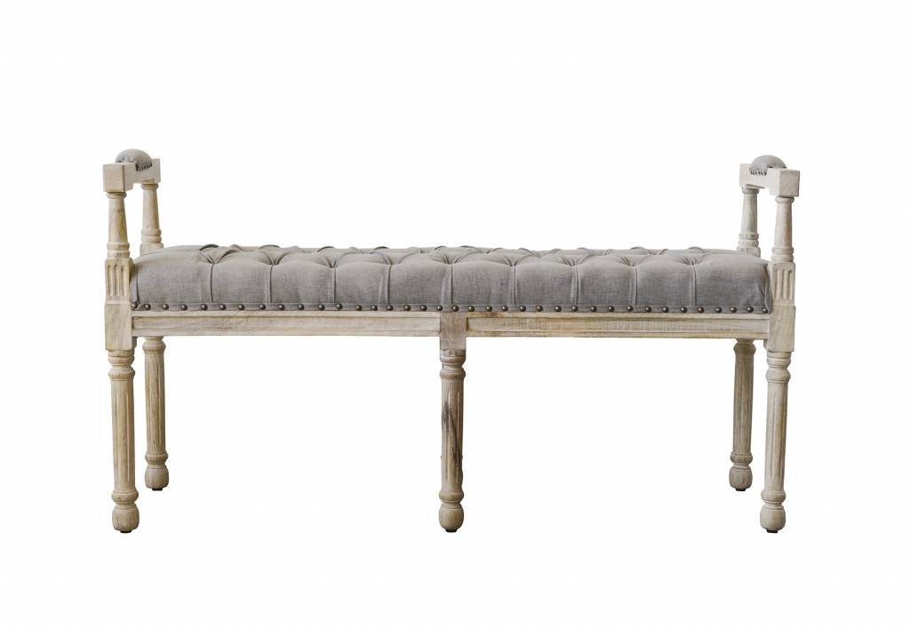 Bloomingville Chateau Bench, Grey, Wood - 130cm - Bloomingville