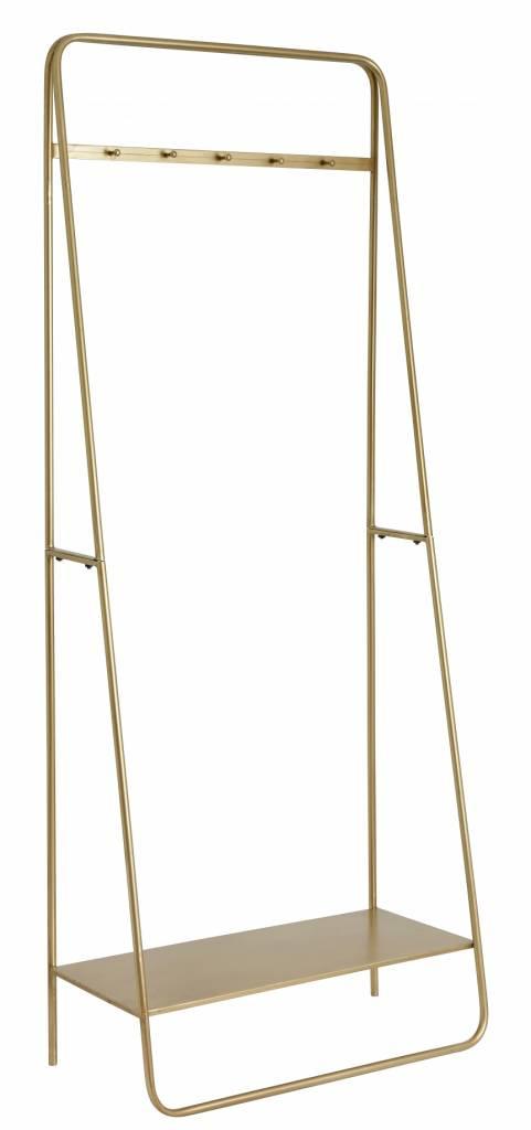Nordal Coat rack/hanger, metal, gold - h190x75cm - Nordal