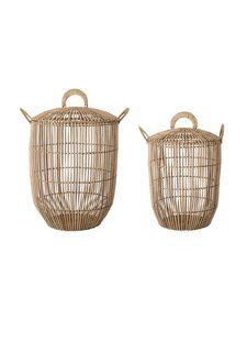 Bloomingville Set of 2 baskets in rattan - natural - Bloomingville