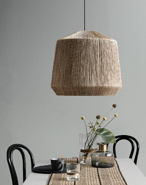 Nordal Jute lamp shade, nature - Ø44xh50cm - Nordal