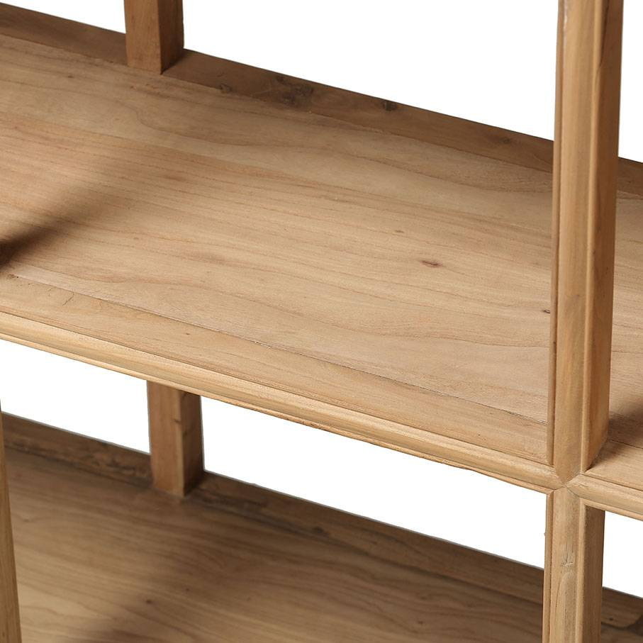 Petite Lily Interiors Scandinavian shelving unit in Elm Wood - Petite Lily Interiors