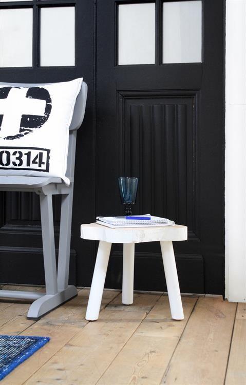 HK Living Tree table - white wood - 33cm - HK Living