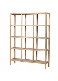 Petite Lily Interiors Scandinavian shelving unit in Elm Wood - 149x35xh194cm - Petite Lily Interiors
