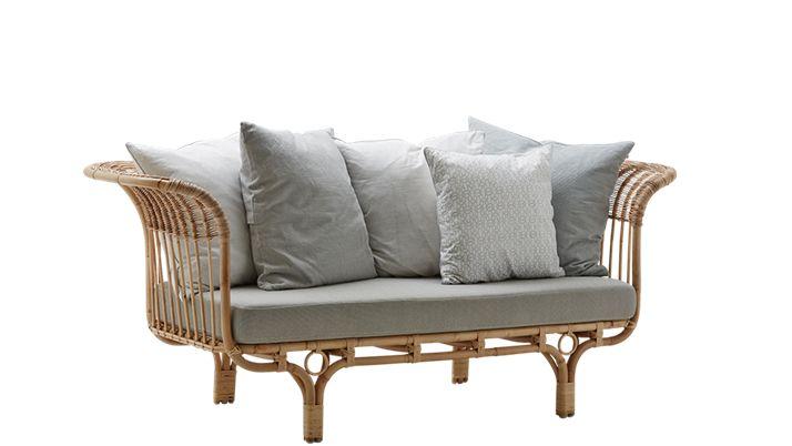 Rattan bench / Sofa Belladonna -  natural - 195cm - SIKA