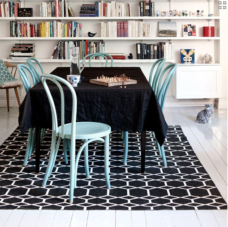 Brita Sweden Ingrid Black 200x300 cm carpet -Brita Sweden