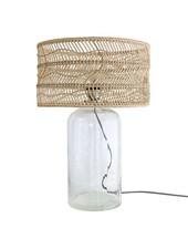HK Living Lámpara botella - Vidrio y mimbre - 40xh59cm - HK Living
