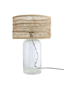 HK Living Lampe bouteille - Verre et osier - 40xh59cm - HK Living