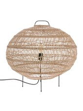 HK Living Wicker Oval Shaped Floor Lamp - 60x56cm - HK Living
