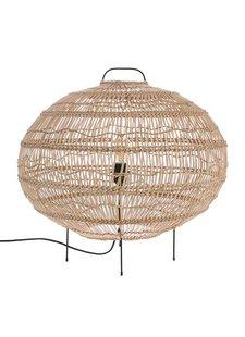 HK Living Lampe pour le sol - Forme Ovale - osier - 60x56cm - HK Living