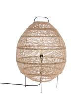 HK Living Wicker Egg Shaped Floor Lamp - 50xh73cm - HK Living