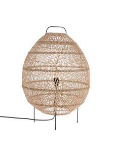 HK Living Lampe pour le sol - Forme Oeuf - osier - 50xh73cm - HK Living