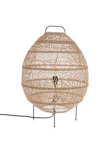 HK Living Wicker Egg Shaped Floor Lamp - 50xh73cm - HK Living