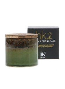 HK Living HK Vela Cera de Soja - Cerámica - Lemongrass asiático - HK Living
