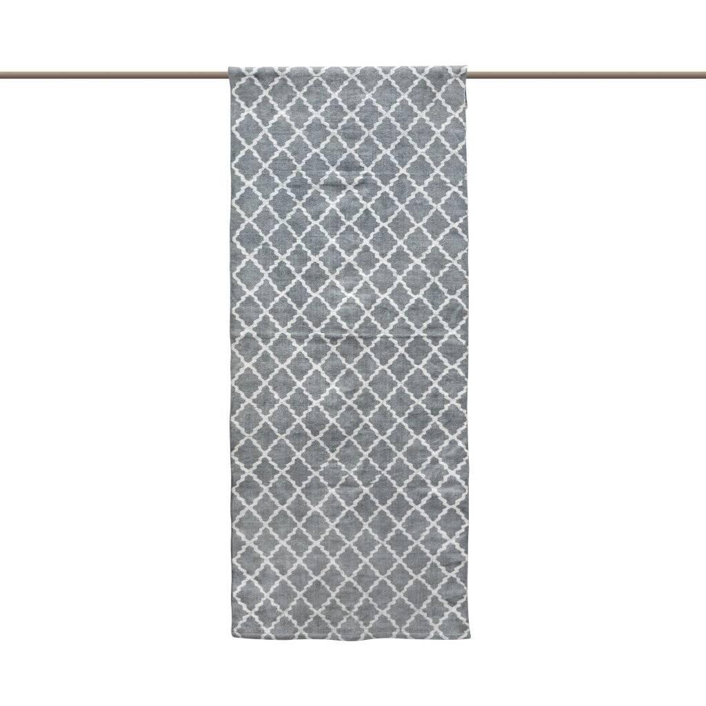 Tell me more Tapis Scandinave en coton lavé - Gris - 80x200cm - Tell me more