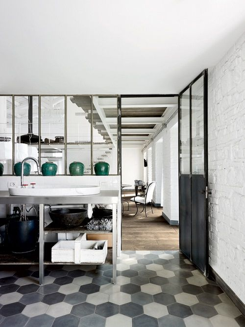 Industrial Rustic Loft styling by the Italian designer Paola Navone - seen at Elle Decoration Italie