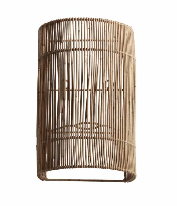 TineKHome Lámpara de pared de mimbre - 20x15xH32 cm - TinekHome