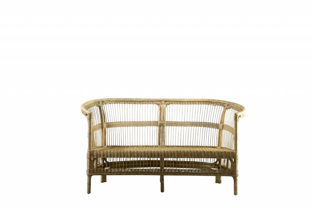 TineKHome Couch in rattan, 150x76xH36/80 cm - nature - TinekHome