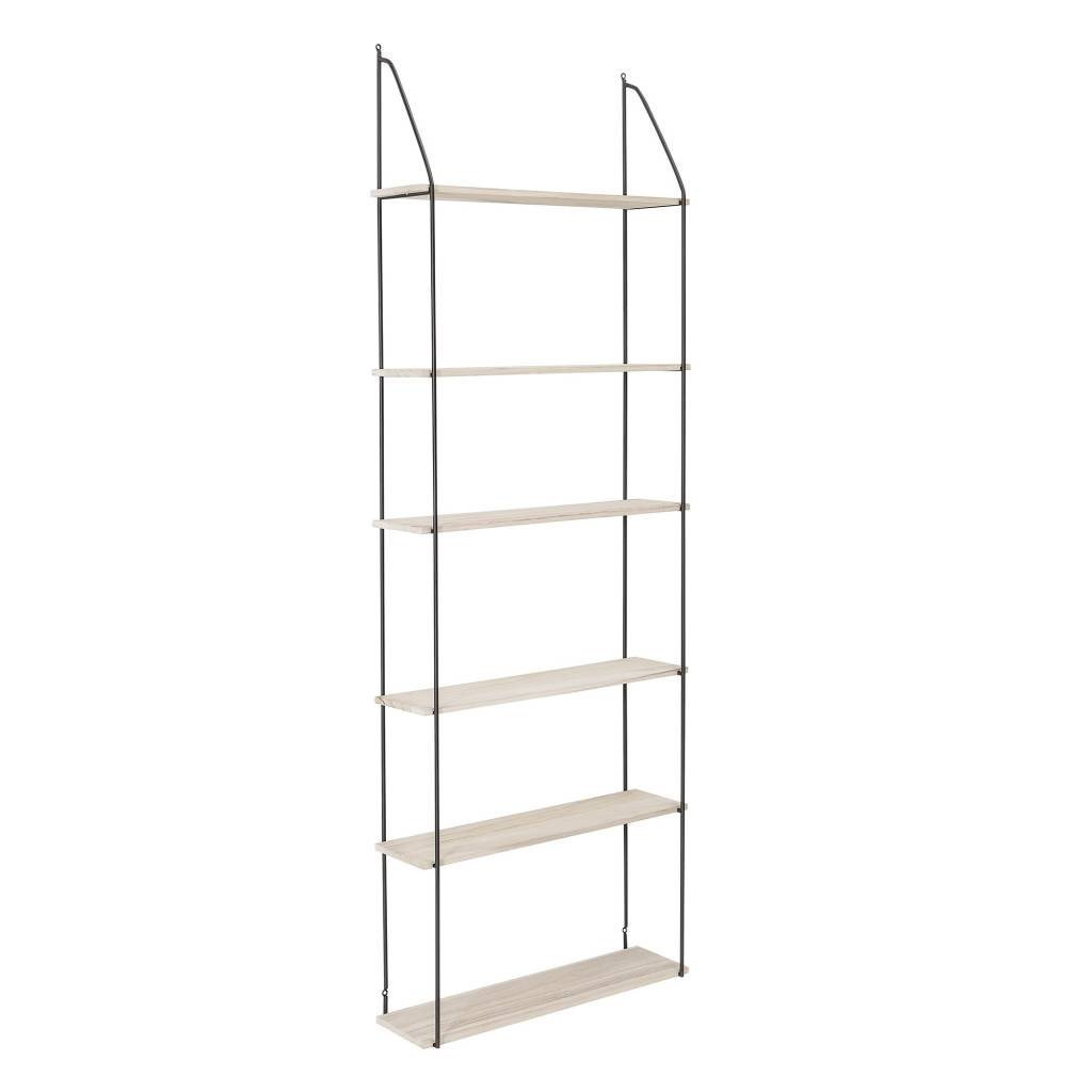 Bloomingville Scandinavian shelving unit Lea - black naturel - L65xH177 - Bloomingville
